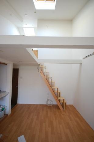 ロフトの階段互い違い階段LXP-type横写真