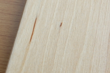 ロフトの階段ホワイトアイアン スマートステップ 段の欠点入り皮