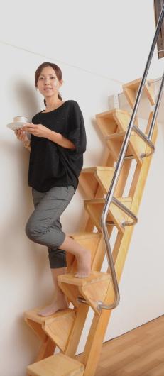 ロフトの階段互い違い階段VX-Type モデル付き
