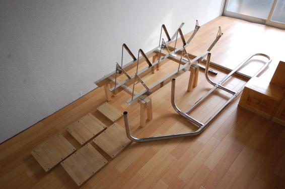 分解組み立てできる互い違い階段 部品