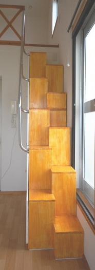 家具階段正面図