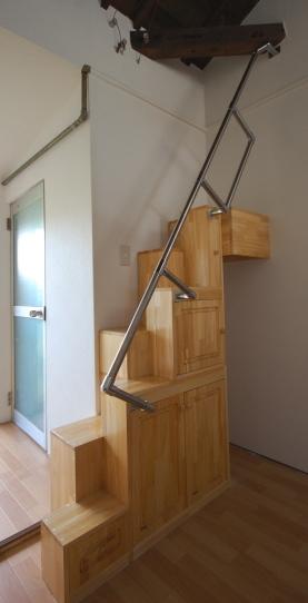 家具階段完成斜め前