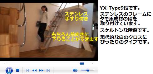 互い違い階段YX-Type ビデオの説明