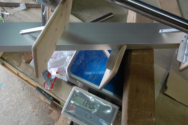 ロフトの階段互い違い階段ロフトくん 13.48kgで軽いです。
