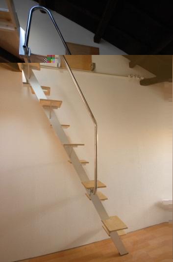 ロフトの階段互い違い階段ロフトくん 横