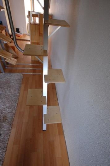 ロフトの階段互い違い階段ロフトくん 前