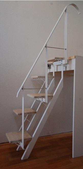ロフトの階段ホワイトアイアン スマートステップ