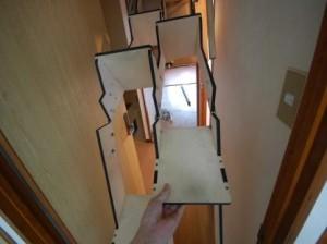 折り畳み互い違い階段伸ばしているところ2