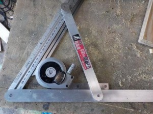 ロフトくんのビーム製作 プロトラクターの角度を自由矩に移す