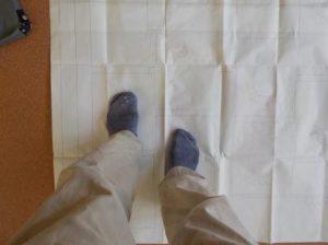 折れ階段の足運びの試験図の使い方