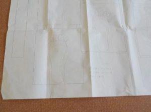 折れ階段の足運びの試験図