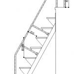 互い違い階段の手すり模式図