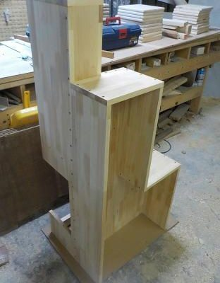 家具階段の製作 縦分割1から4.5段目まで