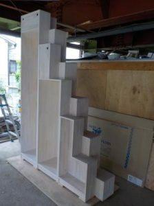 家具階段白塗装