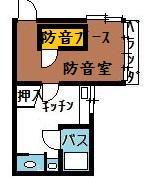 防音アパート間取図