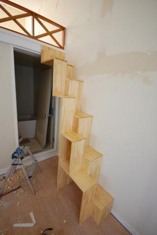 家具階段の取り付け方 取り付け完成