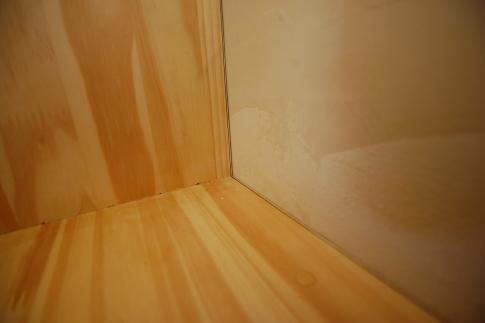 家具階段の取り付け方 不陸直し4