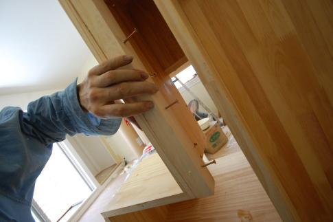 家具階段の取り付け方 取付桟木
