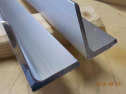 ロフトくんアルミ部材の端部を磨きました。