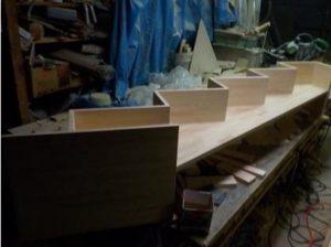 互い違い階段TXーType製作中埋め木完了