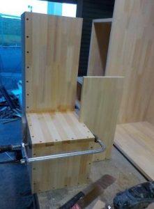 家具階段横分割 作りかけの上側