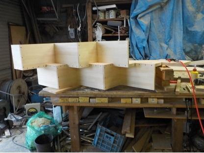ロフトの階段互い違い階段TX-Type