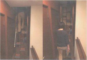 東京都U様 折り畳み階段完成写真 上るとき