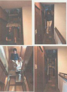 東京都U様 折り畳み階段完成写真 下りるとき