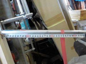 折り畳み互い違い階段の手すり取付根元 アングルを用いる場合 3552N・cmで曲がる