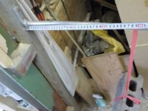 折り畳み互い違い階段の手すり取付根元 アルミフラットバーを用いる場合 5541N・cmに耐える