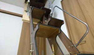 折り畳み互い違い階段施工例千葉県ちばっしー様 下から拡大