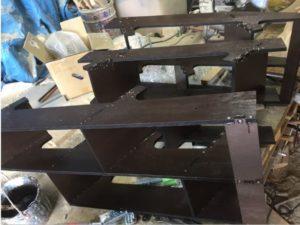 折り畳み互い違い階段製作中