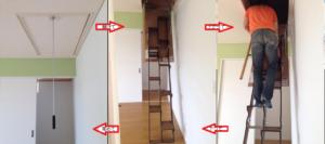 折り畳み互い違い階段の説明写真
