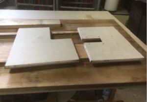 ただいま互い違い階段VX-Type・折り畳み互い違い階段・ロフトくん製作中